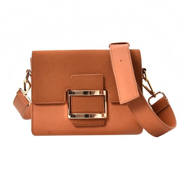 Scrub side buckle women&#8217;s small handbag 2017 all-match shoulder <font><b>strap</b></font> nubuck leather <font><b>bag</b></font> shoulder messenger <font><b>bag</b></font> xiakla789