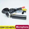 """1/3 """"Sony Color CCD 480TVL Мини Пуля Открытый Водонепроницаемый CCTV Камеры Безопасности Бесплатная доставка Поддержка аудио микрофон"""