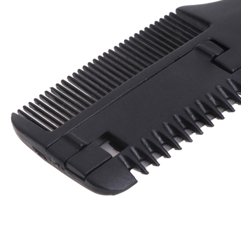 1 Pc Hair Comb Black Handle Cutting Thinning Home DIY Trimmer Inside Blades New Design