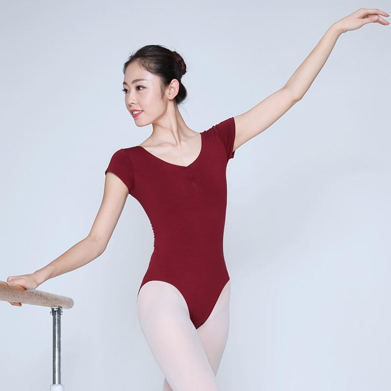 Short Sleeve Women Gymnastics Leotards Ballet Bodysuits For Girl Female Ballet Unitard Dance Wear Leotard Ballet