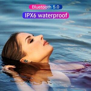 Image 5 - X8 TWS אלחוטי Bluetooth אוזניות סטריאו אוזניות IPX6 עמיד למים מיני ספורט Earbud Hifi קול מגע בקרת אוזניות עם מיקרופון