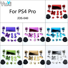YuXi Chrome Dpad R1 R2 L1 L2 Buttons For Sony Dualshock 4 Pro Slim Wireless Controller JDS-040 New Version