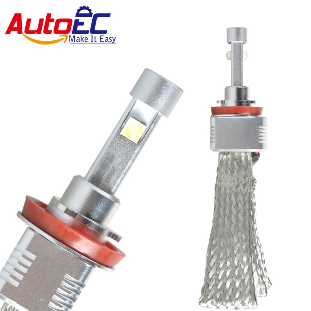 ФОТО AutoEC 40W 6000K 5000LM H8/H9/H11 XHP50 Waterproof Car led Headlight for BMW Audi VW DC 12-24v