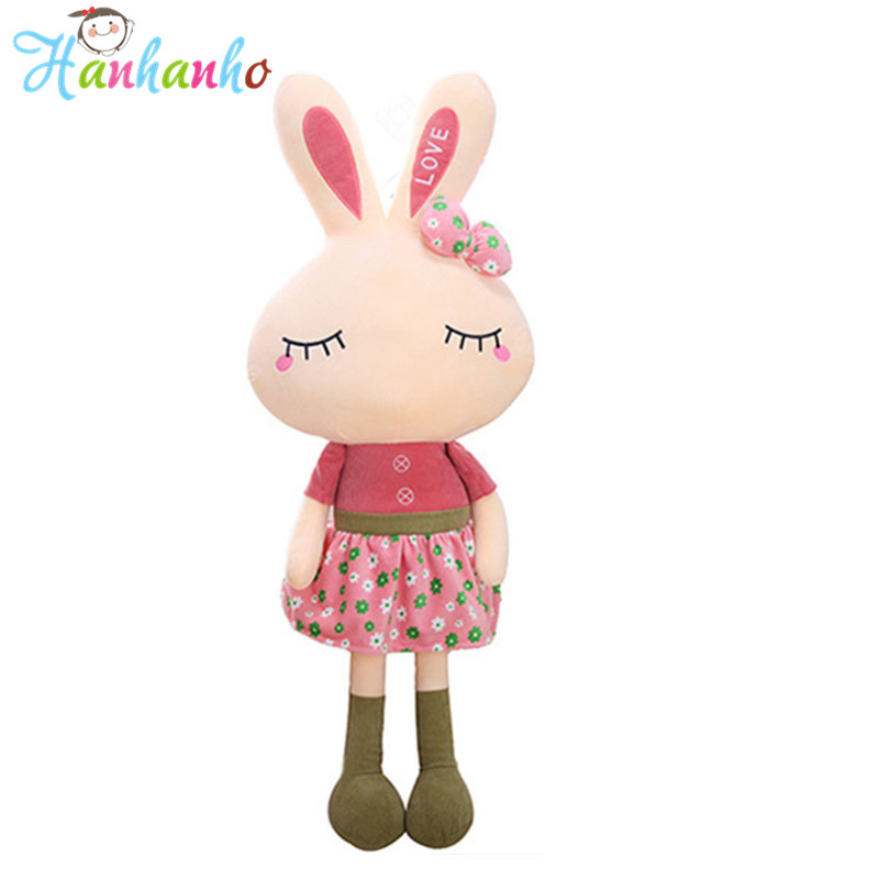 Super Kawaii Love Rabbit Baby Sleeping Plush Toy Cute Stuffed Animal Doll Gift For Children hot sale cute baby kids animal white rabbit sleeping comfort doll plush toy baby small soft stuffed brinquedos for kids gift