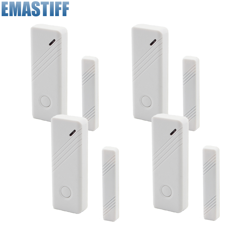 4pcs World-Guard Wireless Door Window Gap Sensor Dector 433MHz For GSM Alarm System New product world outside the window paper