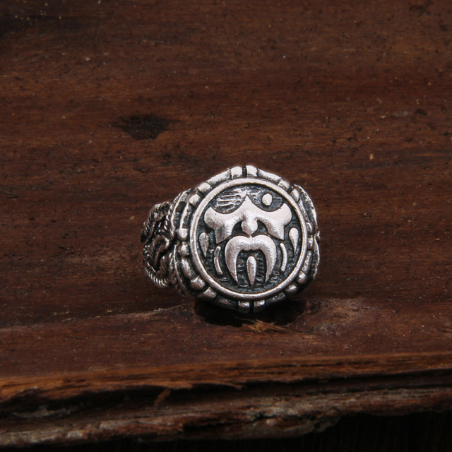 Dropshiping Odin Symbol Norse Viking Runes Rings For Men Runic 5