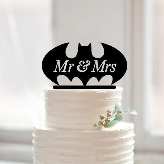 Batman Wedding Cake.Custom Mr Mrs Batman Wedding Cake Topper Acrylic Creative Batman