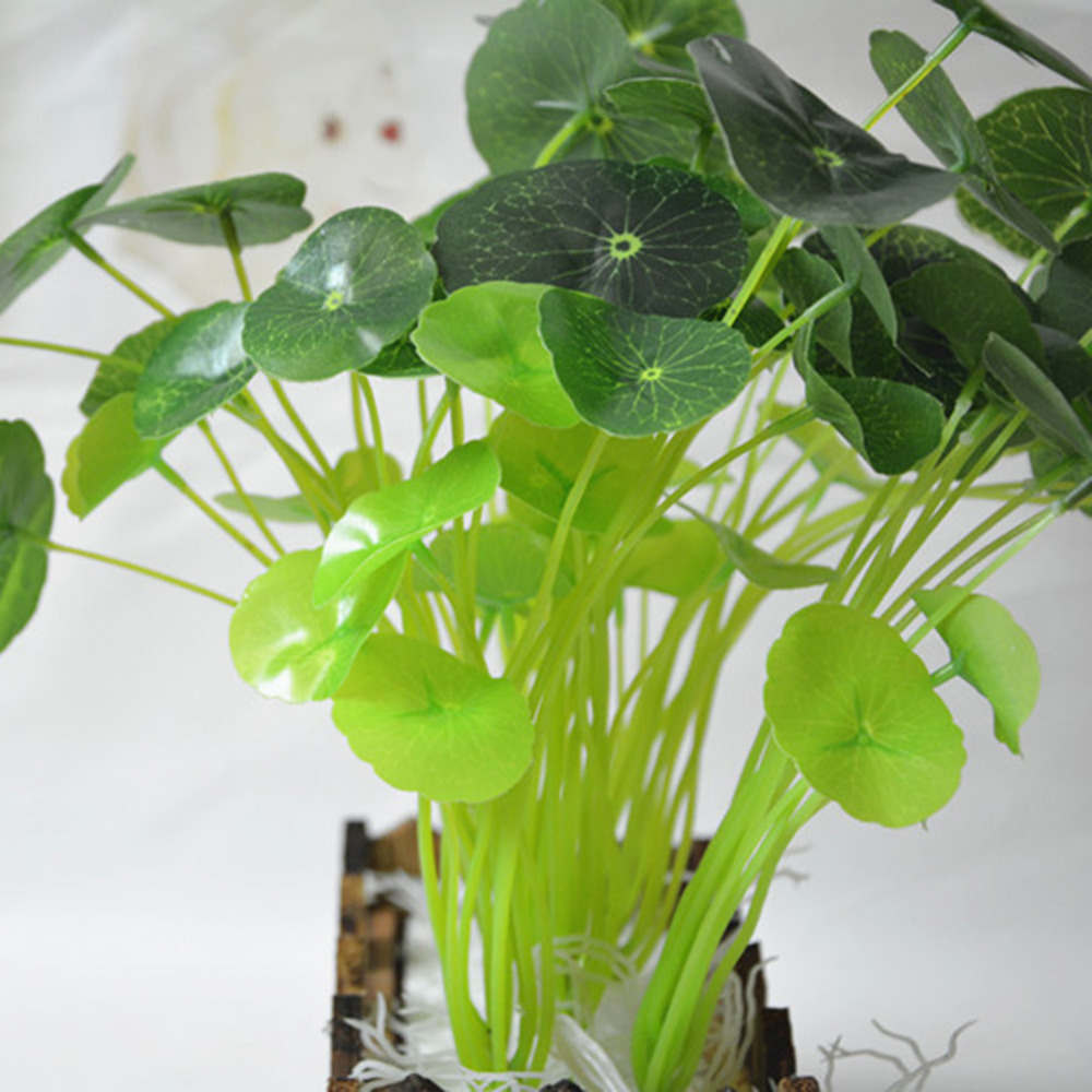 12 Heads Green Plant Artificial Lotus Flower Leaf Simulation Flower