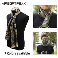 Tactical Hunting Camouflage Scarf Mesh Military Army Scarves Men Shooting Airsoft Blind Scarves Balaclava Conceal Half Face Mask