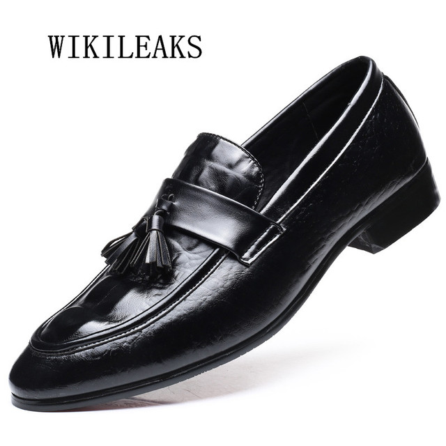 c31a219b6d76b 2019 men shoes slip on loafers formal mariage wedding dress shoes men  genuine leather oxford shoes