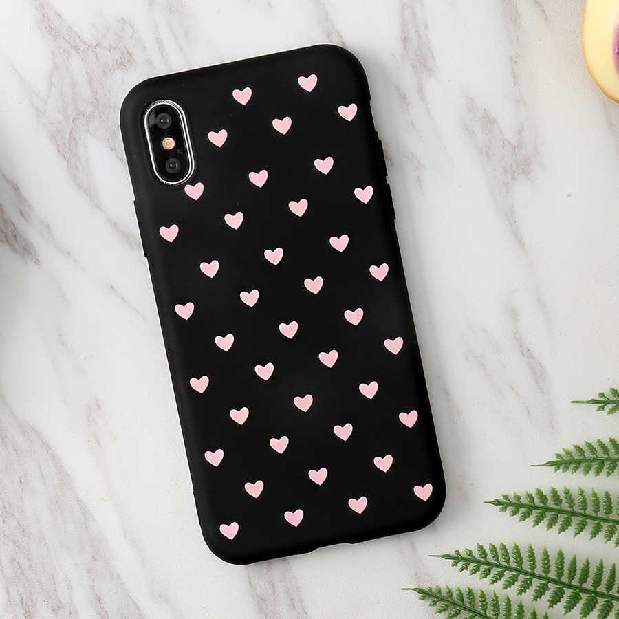 "Amor coração macio tpu caso para iphone x xs max xr 6 s 5 5S se 7 8 plus capa para iphone 11 pro max 6.5 ""capa coque fundas"