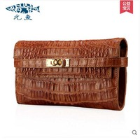 Yuanyuqijiandian Real Thailand Alligator Leather Female Clutches Belt Buckles Women Packets Crocodile Grain Long Women Handbag