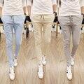 Горячая распродажа 2015г. Новый стиль, высокое качество. Мужские повседневные хлопковые однотонные тонкие брюки свободного покроя. Бесплатная доставка, размеры M-5XL.