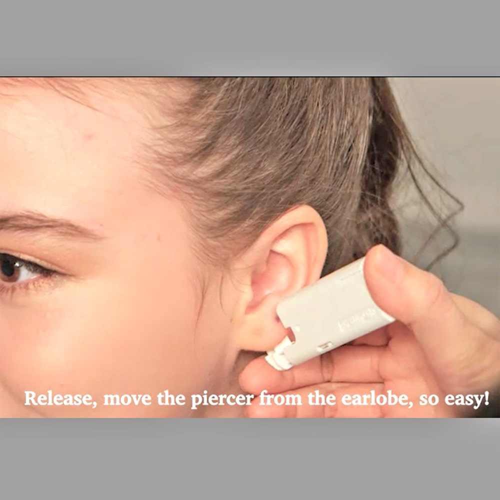 BOG-1Unit Sterlised Keselamatan Sekali Pakai Telinga Tindik Hidung Perangkat Alat Alat Mesin Telinga Tindik Steril Bezel Kristal Stud Perhiasan Tubuh