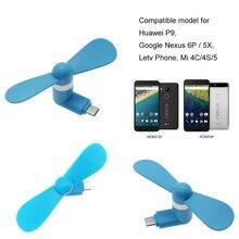 Type-c Flexible Mini Cool Hand Fans for Xiaomi 4c 5 5s 6 Mi5 Mi5s MI4C Huawei P9 P10 Soft Type C Jack Interface Mobile Phone Fan