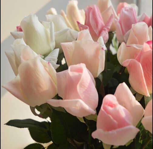 25 шт./партия, 8 цветов, свежая роза, искусственные цветы, реальные на ощупь розы, цветы, украшения для дома на свадьбу или день рождения 55 см