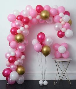 Image 3 - METABLE ורוד מסיבת בלוני 110 Pcs 12in חם ורוד & זהב מתכתי Pearlescent בלוני קשת עבור חתונה תינוק מקלחת המפלגה דקור