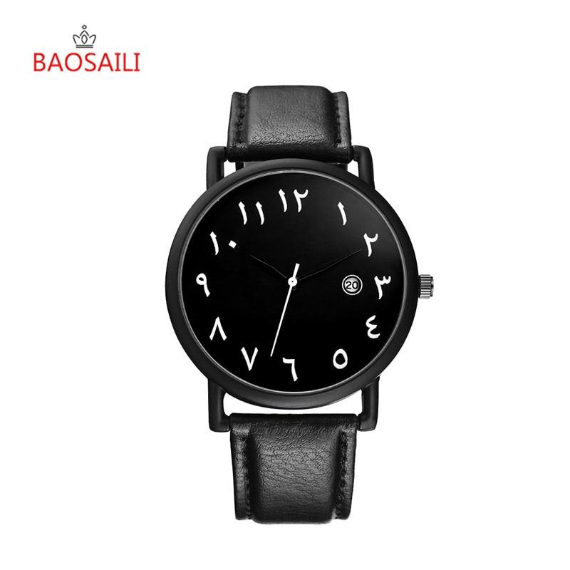 Arabic Numbers Watches Women Men Lovers Watch Geneva Quartz Wristwatch PU Leather Sports Watch Man Calendar Dress Clock Gifts 35
