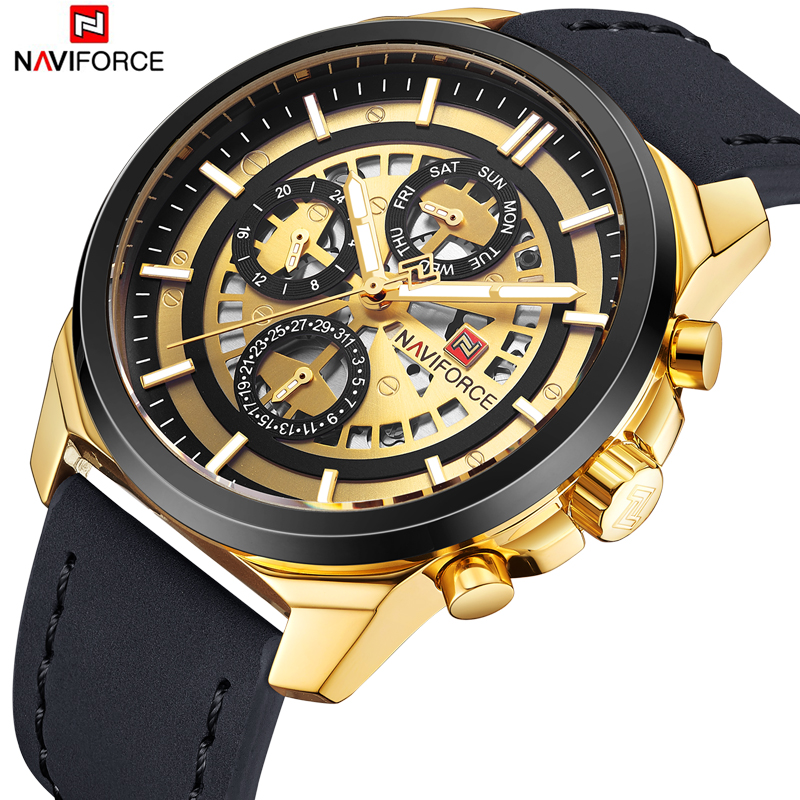 NAVIFORCE Luxury Brand Men Quartz Wrist watches Men's Quartz 24 hour Date Clock Male Sports Waterproof Watch Relogio Masculino new naviforce men watch top brand luxury men s rose gold quartz wrist watches male 24 hour luminous date clock relogio masculino