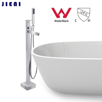 WELS And CUPC Floor Mounted Brass Bathroom Hot And Cold Water Torneira Shower Bath Mixer