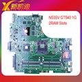 Para asus n53sv n53sm n53sn madre original del ordenador portátil (mainboard) nvidia gt540m y 4 ranuras de memoria ram rev 2.2 2.0 2 gb probado bien