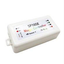 Bluetooth SPI LED piksel denetleyici; DC5 24V giriş birçok IC tipini destekler piksel ışıkları; android ile çalışır ve IOS sistemi