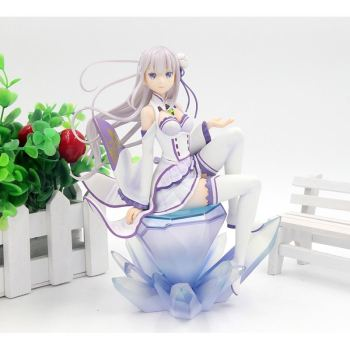 18cm Japanese anime figure Emilia Re:Life in a different world from zero action figure collectible model toys for boys