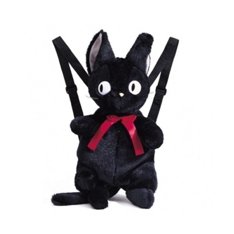 Femmes Studio Ghibli chat noir jiji Kiki Service de livraison sac à dos sac en peluche 50 cm peluche jouet anniversaire cadeaux pour les enfants