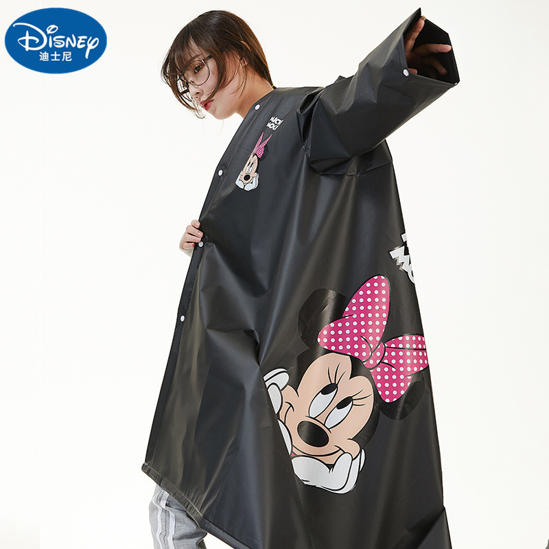 Black White Mickey Minnie Raincoat Couple EVA Material Lady Girls Women Rainproof Poncho Rain gear Boys Rainsuit Travel Walk
