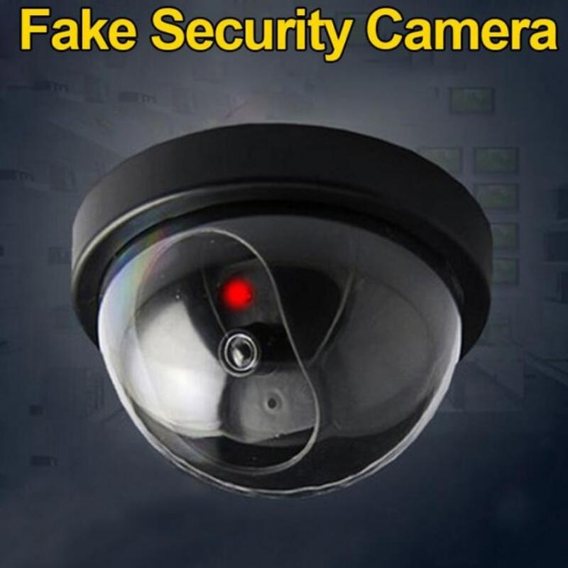720P Simulated Fake Dome Dummy Camera Security with Flashing Red LED Light Home