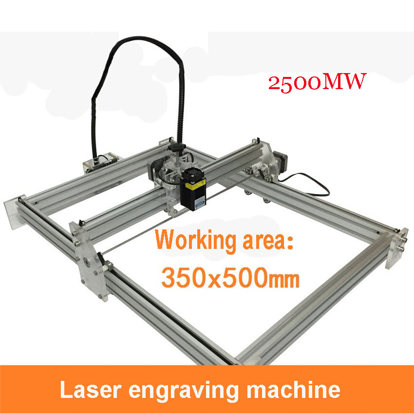 1PC  DIY Mini 2500mw Laser Machines, Large Format 35cm * 50cm  Wate Laser Engraving Machine, Alternating Current