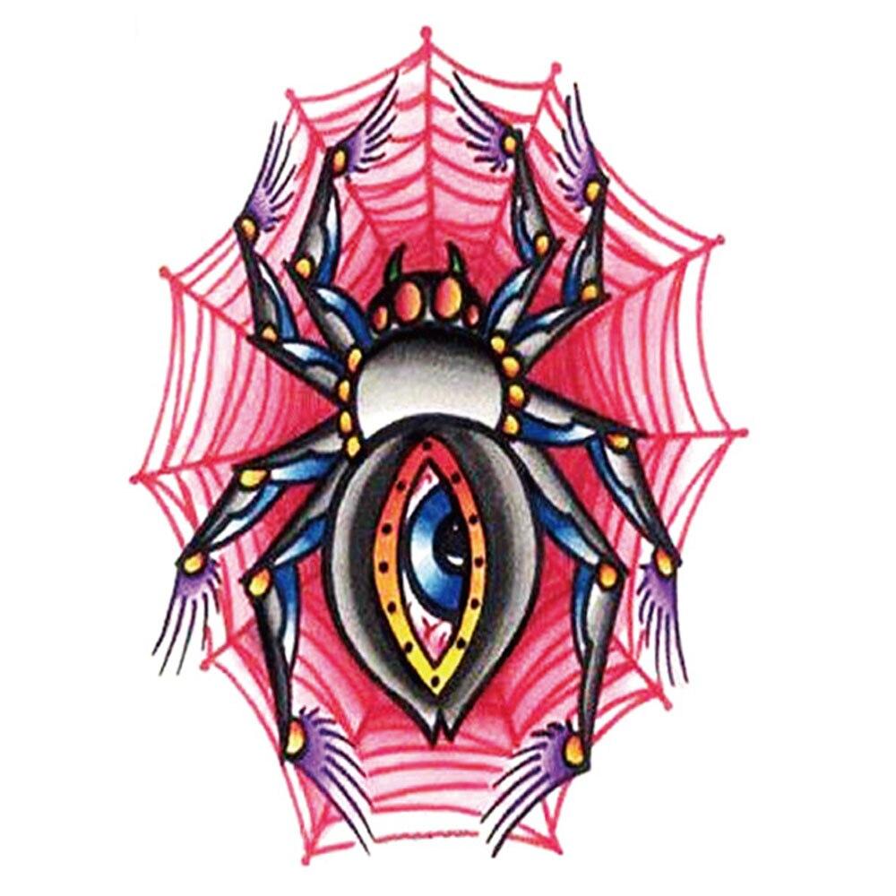 Yeeech Temporary Tattoos Sticker for Women Men Arm Leg Sexy 3d Spider Web Eye Designs Real Looking Fake Long Lasting Body Art
