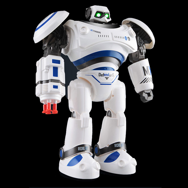 Free Shipping RC Robot R1 Mechanical Police Remote Control Outdoor Children Toys Blue Orange police pl 12921jsb 02m