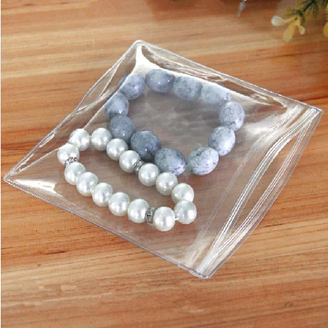6*8cm clair auto-étanchéité fermeture à glissière Anti-oxydation en plastique sac demballage PVC bijoux artisanat Anti-ternissement poche de stockage