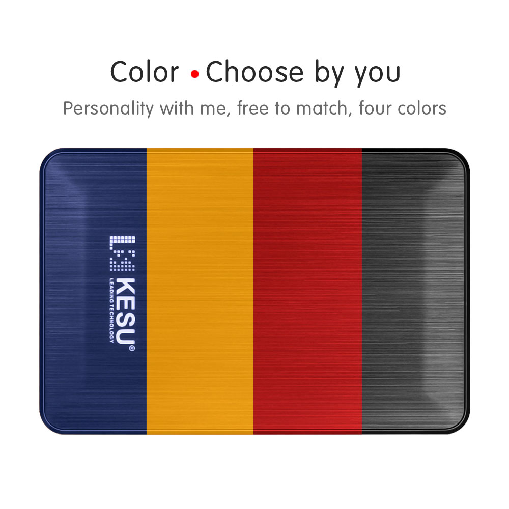 2TB KESU-2518 External Hard Drive 1TB USB3.0 HDD 500GB 120GB 160GB 250GB 320GB Portable External HD Hard Disk for Desktop Laptop 4 Color