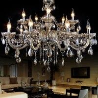 현대 크리스탈 샹들리에 lampshades lustres 드 크리스털 sala 대형 크리스탈 빛 샹들리에 조명 lampadari moderni 램프
