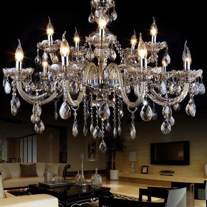 Aliexpress Modern Crystal Chandelier Lampshades Res De Cristal Sala Large Light Chandeliers Lighting Lampadari Moderni Lamp From
