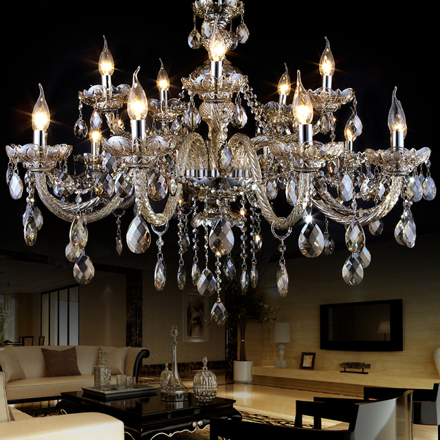 Modern Crystal Chandelier Lampshades Lustres De Cristal Sala Large Crystal  Light Chandeliers Lighting Lampadari Moderni Lamp