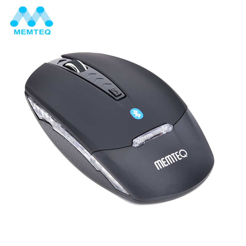 MEMTEQ Wireless Mouse Ergonomic LED Mini Bluetooth Optical Mice 1600DPI Gaming Computer Mouse for PC Tablet Laptop Mac Notebook