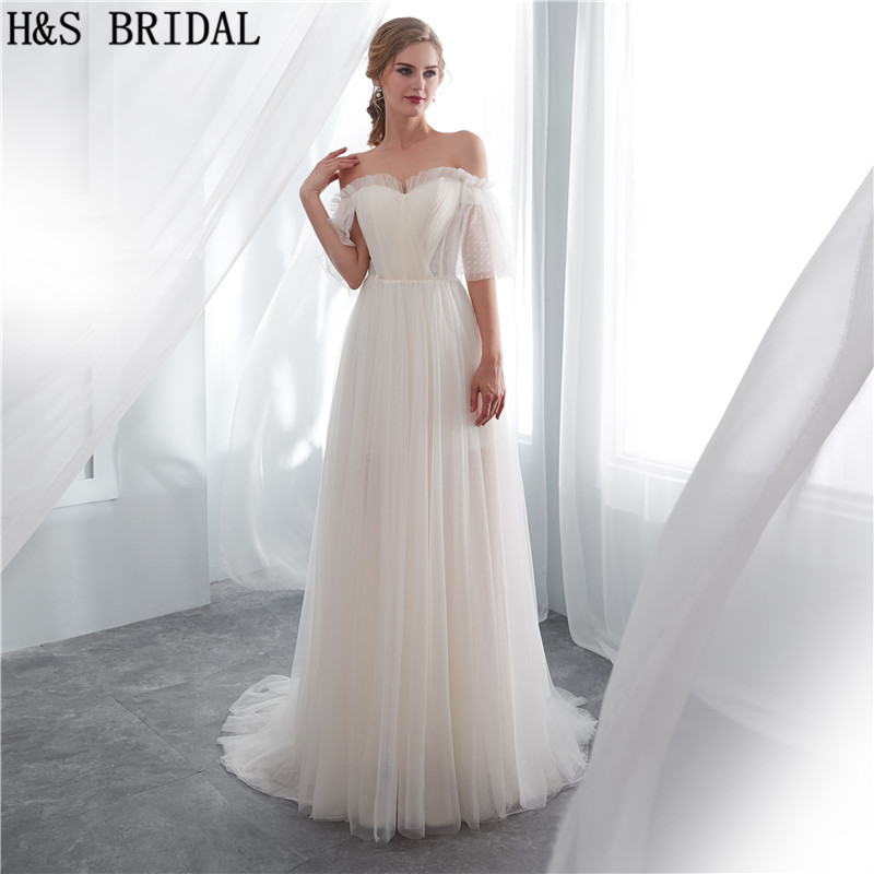 H&S BRIDAL Boho Wedding Dresses 2019 Cheap Bride Dresses