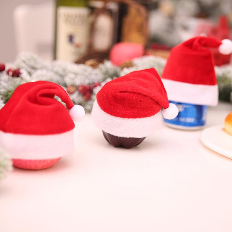 Christmas Tree Hats: Mini Christmas Hat Santa Claus Hat Christmas Apple Wine