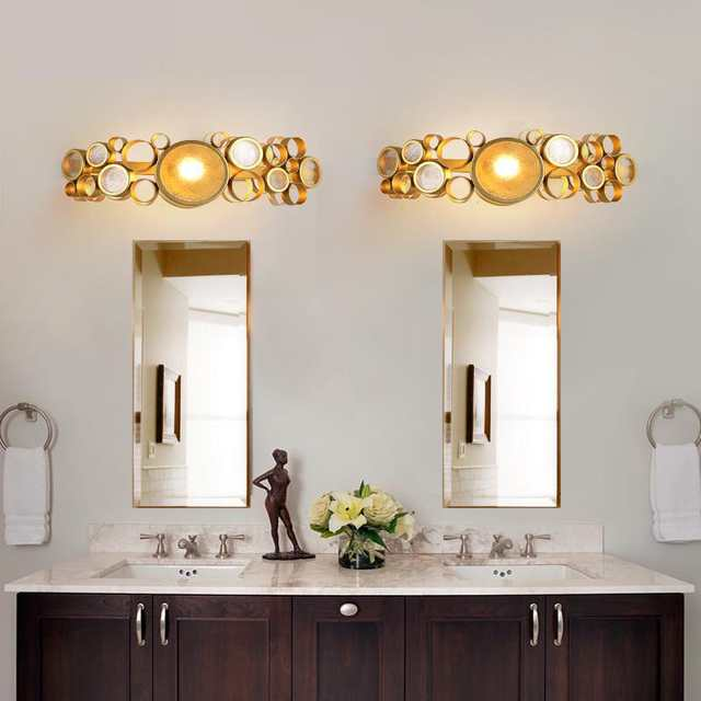 Post Modern Gold Bathroom Light Novelty Bracelet Iron Wall Lights