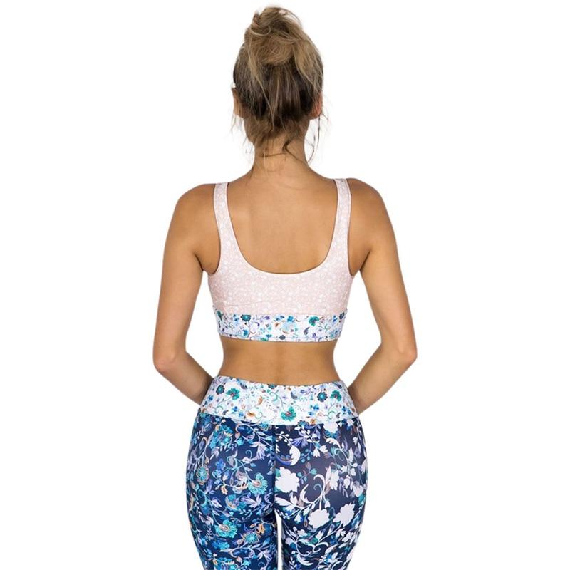 Print Bra for Women Fashion Printing Quick-drying Sports Bra Fashion Women Mom Bra