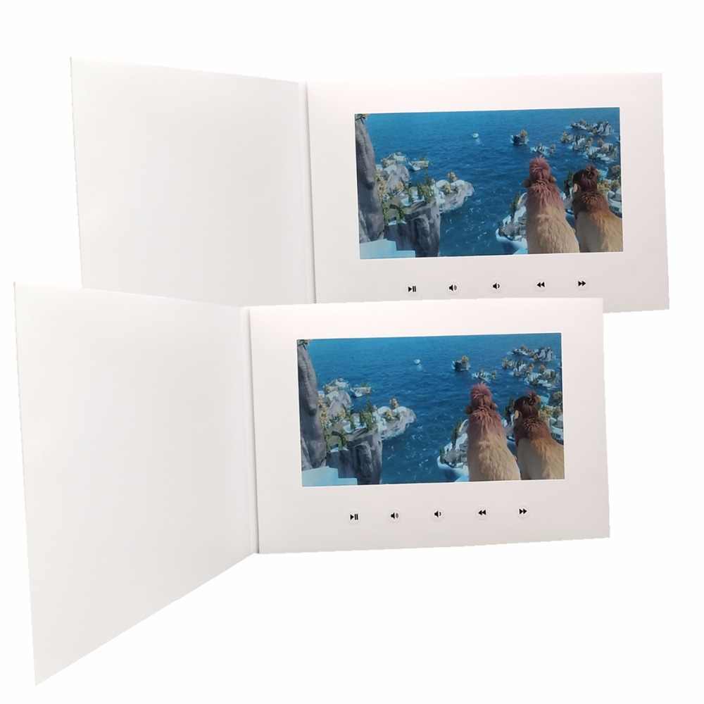 customization Smart 10 LCD USB Smart Flip 1080P Color Screen HD 1080P Video Photo Xmas Greeting