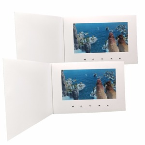 "Image 2 - Customization Smart 10"" LCD USB Smart Flip 1080P Color Screen LCD Video Photo Xmas Greeting Card Media Player"