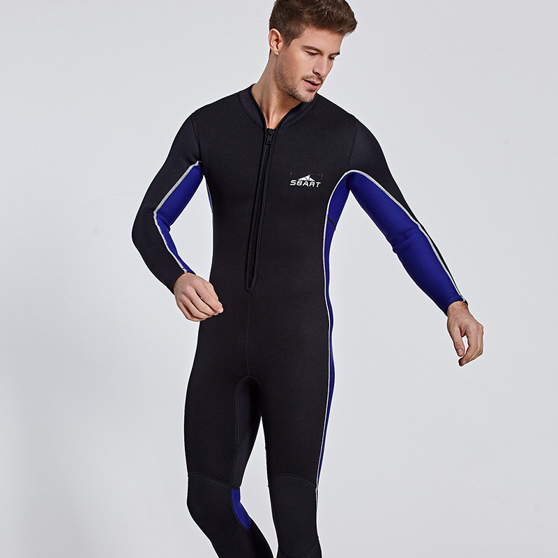 Wetsuit Men Full Suit Wetsuits, Long Sleeve Mens Wetsuit for Scuba Diving Surf Snorkeling, Neoprene Wet Suit 3mm Black Front zipWetsuit Men Full Suit Wetsuits, Long Sleeve Mens Wetsuit for Scuba Diving Surf Snorkeling, Neoprene Wet Suit 3mm Black Front zip