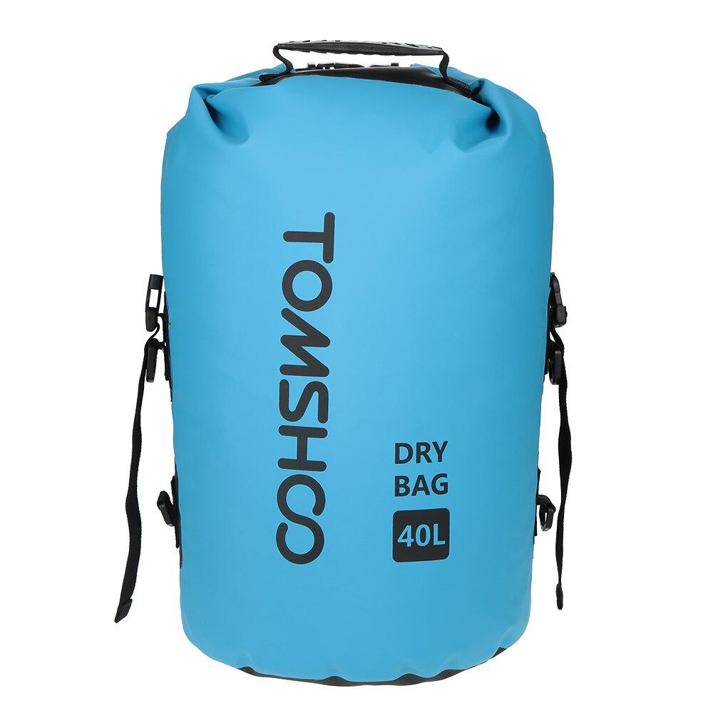 TOMSHOO 40L Outdoor Water-Resistant Dry Bag Sack Storage Bag For Travelling Rafting Boating Kayaking Canoeing Snowboarding