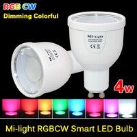 Milight 2 4G GU10 4W Wireless Colorful LED RGBCW RGB COOL WHITE RGBWW RGB WARM WHITE