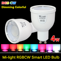 Milight 2 4G GU10 4W Wireless Colorful LED RGBCW RGB COOL WHITE RGBWW RGB WARM WHITE