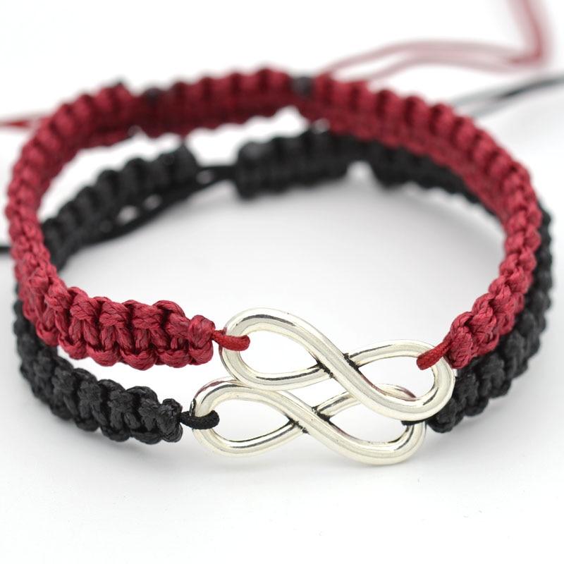 Bijoux faits à la main pour Couple Infinity charme bracelets pour femme chaîne de corde cadeau à la mode Pulseira Feminina